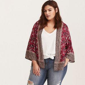 Torrid Size 0 00 L XL 10 12 Kimono